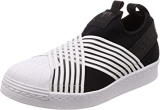 adidas, Superstar Slip On Shoes, Women's Shoes, Black/White/White, 5.5 US