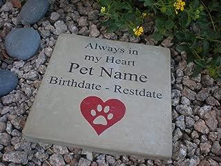 Pet Memorial Step Stone 7.5