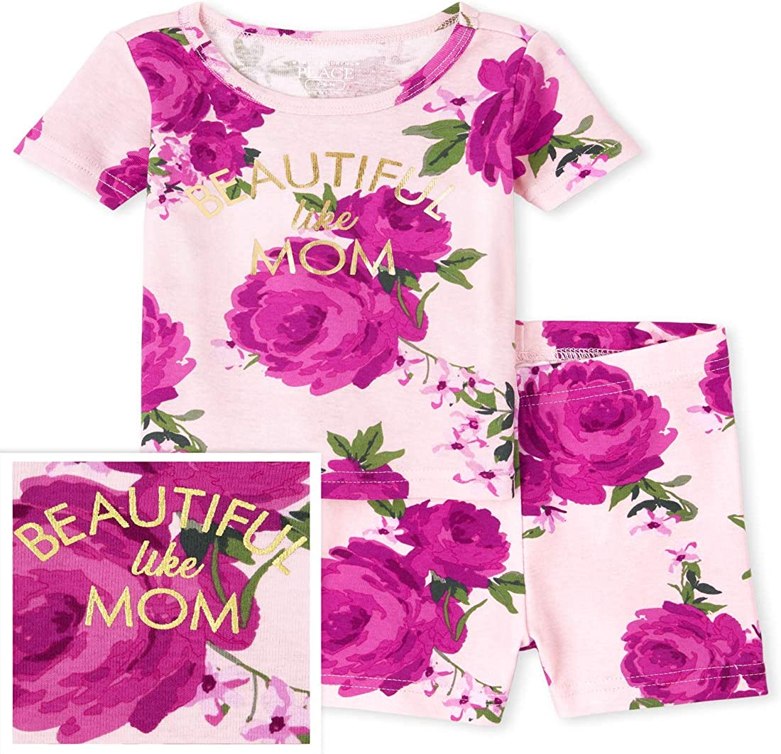The Children's Place Baby Girls' Mother's Day Two Piece Pajama Set