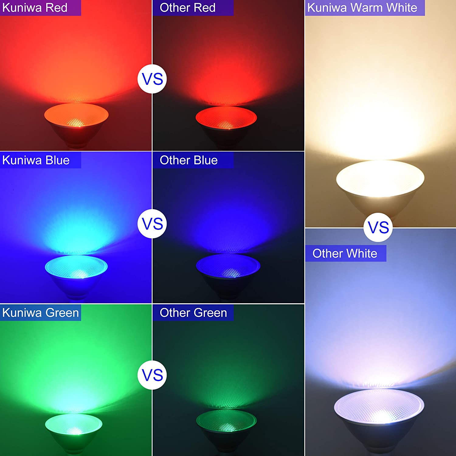 30W E27 LED Flood Light Kuniwa IP65 Waterproof Dimmable Colour Changing Light Bulb with Remote Control for Indoor//Outdoor Home Room Party Decoration 5000K RGB+Daylight PAR38 LED Spotlight Screw