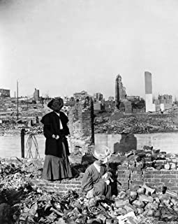 San Francisco Earthquake Ntwo Women Searching Through The Rubble For Valuables Following The Earthquake Of 18 April 1906 S...