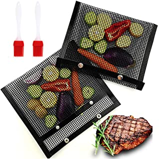 BBQ Grill Mesh Bags Non-Stick BBQ Grill Mesh Baked Bag Baking Grilling PTFE Bag Mesh Barbecue Pouch Food Grade Heat-Resist...