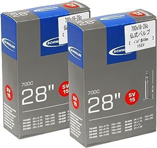 SCHWALBE(シュワルベ) 【正規品】700x18-28Cチューブ 仏式 40mm バルブ 15SV 【2個セット】