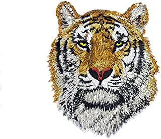 Riverbyland Iron On Patches Embroidered Tiger Pack of 2