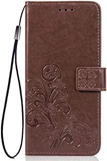 for Samsung Galaxy S10e Bookstyle Case, Clover PU Leather Flip Wallet Case Cover (Brown)