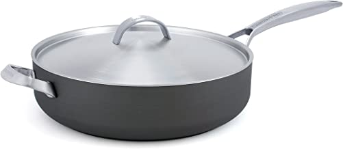 GreenPan Paris 4 Quart Ceramic Non-Stick Covered Saute Pan with Helper Handle, Gray - CC000040-001