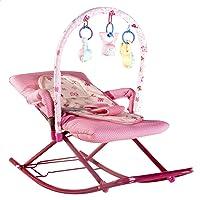 كرسي هزاز مستطيل للاطفال من مورو، بينك