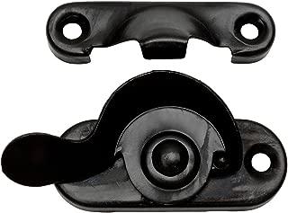 10 Pack - Designers Impressions 53720 Flat Black Window Sash Lock