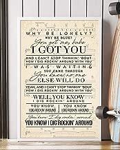 Trendora Decor Rockin' Around Song Lyrics Portrait Poster Print (16