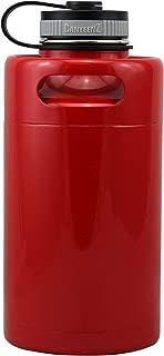 Bengal Red Vacuum Insulated 64oz Stainless Steel Mini Keg Beer Growler