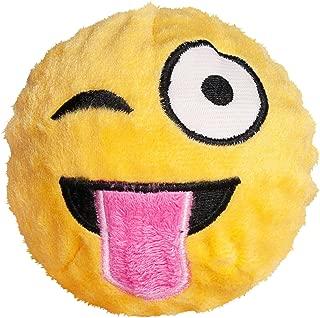 Fab Dog Wink Emoji Faball Dog Toy