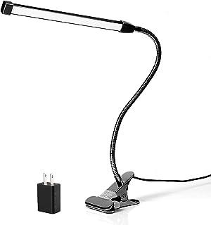 クリップライト led デスクライト 卓上ライト 読書灯 ベッドライト ナイトライト 3段調色(暖色/昼光色/白色) 10段調光 USB式 8W 700lm 80個LED 360°回転 レキシブルアーム 長寿命50000時間 省エネ 明るい 目...