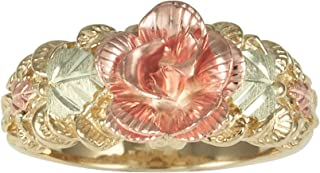 Womens 10k Black Hills Gold Rose Ring