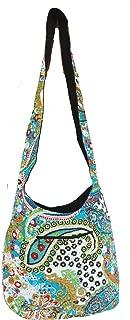 Rastogi Handicrafts Kantha Turquoise Color Shoulder Bag For Girls Women Indian Traditional Design
