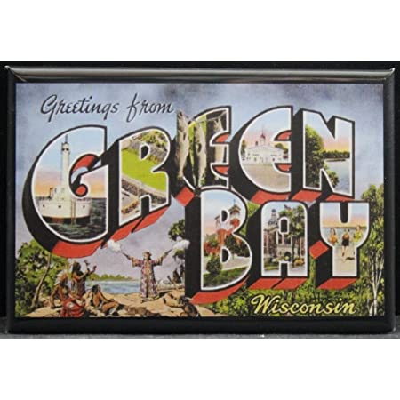 Details about  /Greetings from Sturgeon Bay and Door County Wisconsin FRIDGE MAGNET