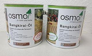 Osmo Spar-Set 2x Bangkirai-Öl 006, 2,5l, schützendes Terrassenöl