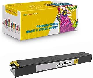 New York TonerTM New Compatible 1 Pack MX-36NTYA High Yield Toner for Sharp - MX 2610   2610N   2615   2640N   3110N   3115N   3140N   3610N . -- Yellow