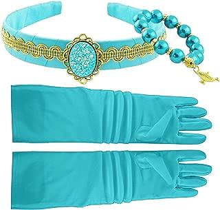 Little Pretends Jasmine Aladdin Costume Accessory Set - Headband Crown and Bracelet Jewelry