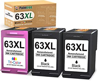 Palmtree Remanufactured Ink Cartridge Replacement for HP 63XL 63 XL Fit with HP Envy 4520 4512 4516 OfficeJet 4650 5255 38...