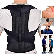 Sankirtan Posture Corrector Back Brace Waist Wide Straps Support with Adjustable Size for Upper Back Pain Relief, Improve Sitting and Standing Posture (XL)