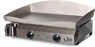 Plancha Tonio - Plancha Electica 6 à 12 personnes - Electrique 220-230 V - Plaque de cuisson inox 4 mm – Caisson Inox – 30...