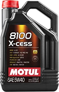 Motul 5L Synthetic Engine Oil 8100 5W40 X-Cess - 502 00-505 00-Ll01-229.5-Porsche A40(102870)