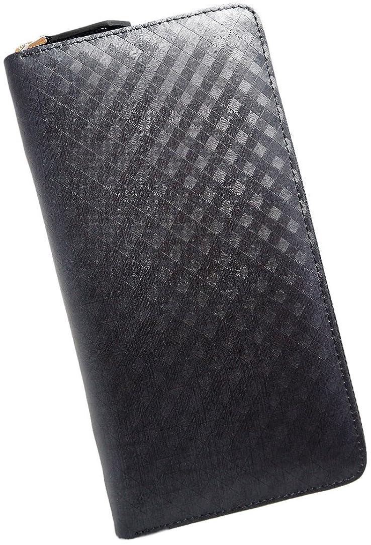 受け継ぐずっと連続した極上スペインレザー 本革 大容量 長財布 ラウンドファスナー ブラック ME0082_c1