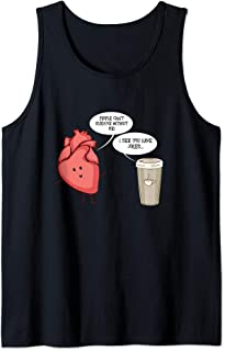 I See You Have Jokes Heart and Coffee  Tank Top