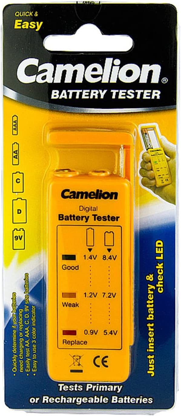 Camelion BT-0503 battery tester (for AA, 2A, AAA, 3A, 9V, C, D)