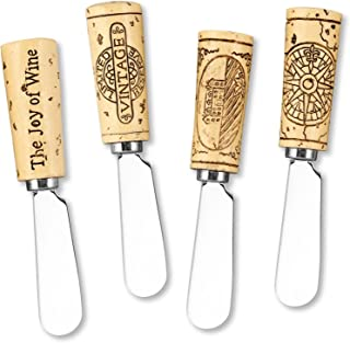 wine cork cheese spreaders