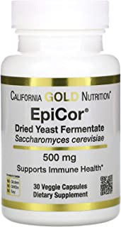 California Gold Nutrition EpiCor, Dried Yeast Fermentate, 500 mg, 30 Veggie Capsules