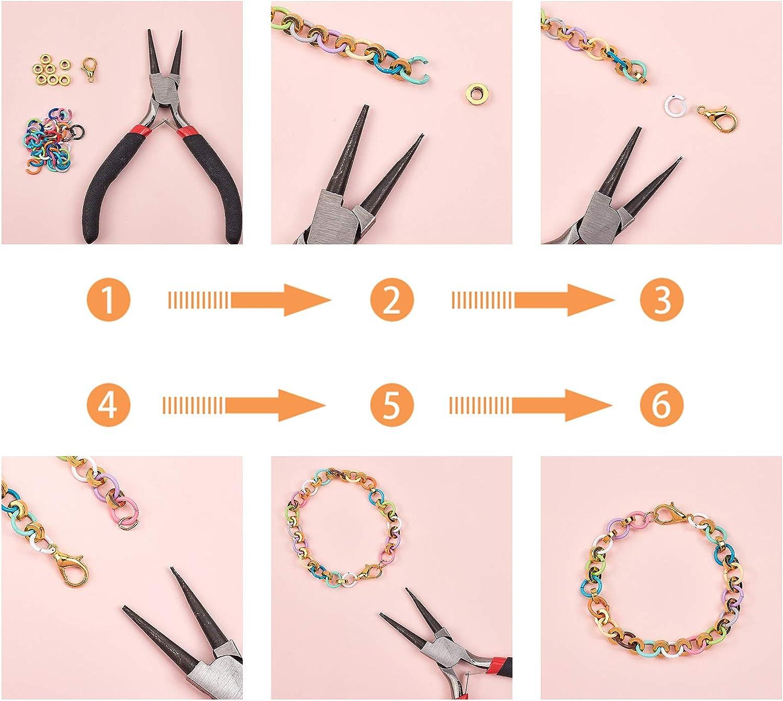 PandaHall 160pcs 8~8.5mm Anneaux de Saut Ouverts en Fer 16 Couleurs Anneaux O pour Colliers Bijoux de Bracelet et Fabrication Artisanale