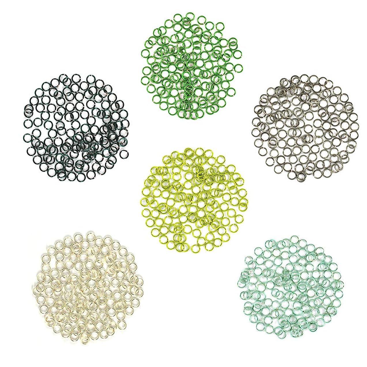 Forest Flora - Enameled Copper Jump Rings – 22 Gauge – 3.5mm ID - 600 Rings - Green, Hematite, Peridot, Seafoam, Silver, Teal