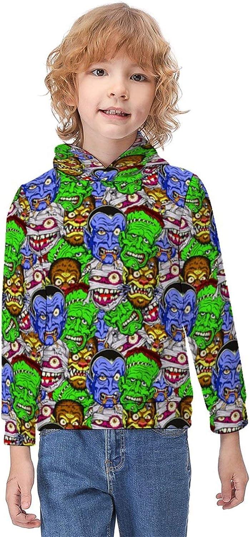 ODOKAY Unisex Kids Pull-Over Hoodie Printed Youth Sweatshirt Long Sleeve Fall Hoodies