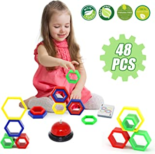 LUKAT Stacking Game, Family Board Games for Kids 3 4 5 Years Old, Early Educational Learning Toy Gift for Boys & Girls