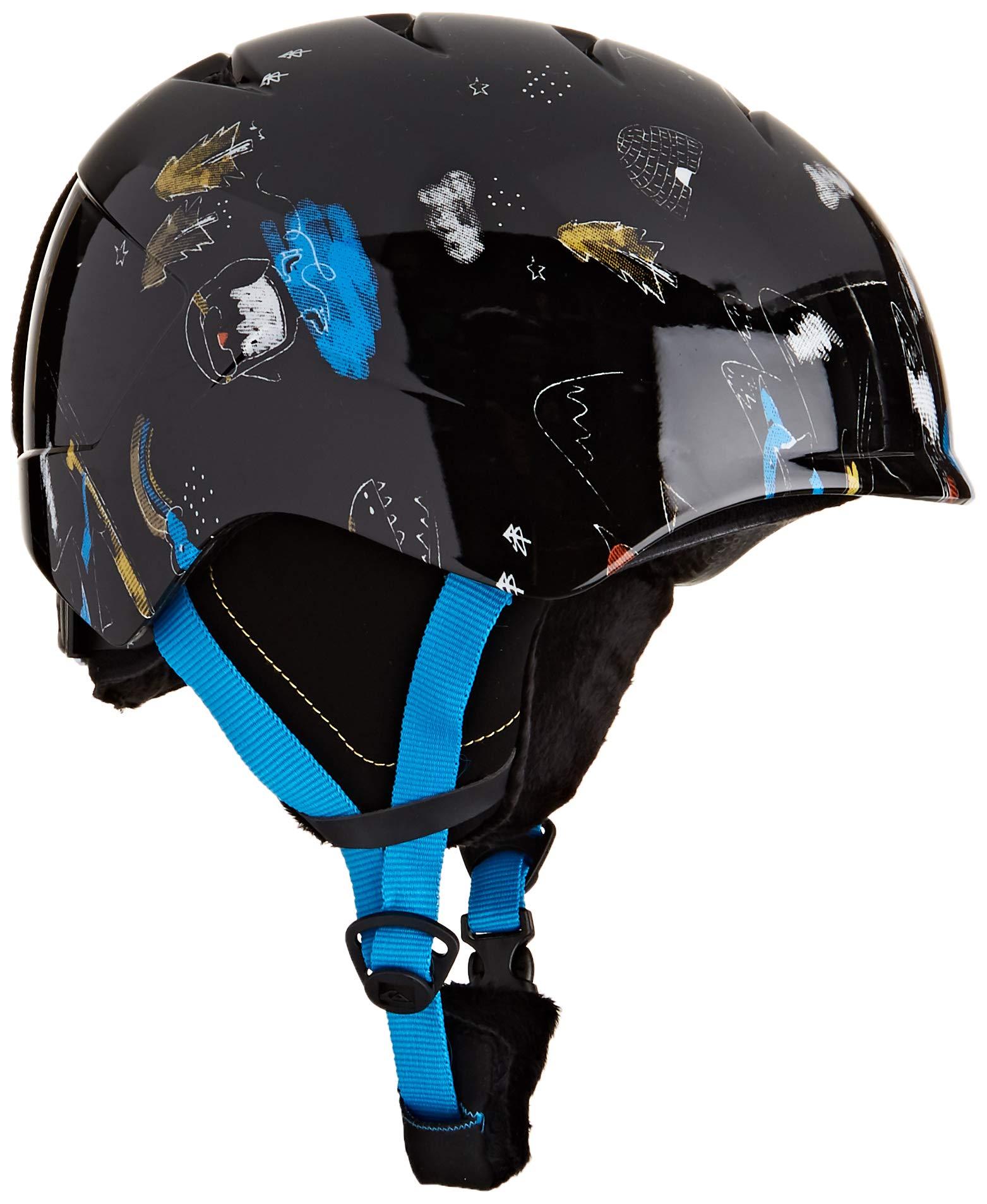 Quiksilver Jungen Slush-Snowboard-/Skihelm, Black Snow Party, L/XL