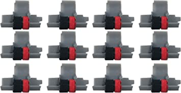 Black and Red Compatible with Canon P23-DH V Calculator 3 Pack IR-40T Ink Roller Casio HR-100TM HR-150TM