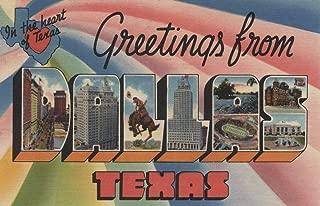Greetings from Dallas, Texas (12x18 Art Print, Wall Decor Travel Poster)