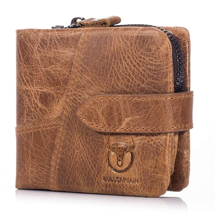 与える印象的パールMUMUWU 財布 メンズ 二つ折り財布 大容量 小銭入れ付き カードケース ウォレット