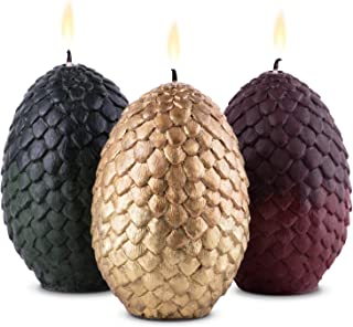 Perfect Perfect GoT Fan Gifts Wideocean Game of Thrones Dragon Egg Candles Bundle Set of 3