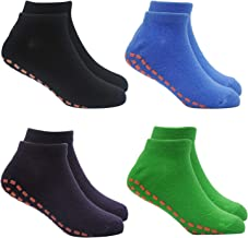 Kids Trampoline Socks Anti-Skid Non Slip Sticky Grips Socks 4 Pairs