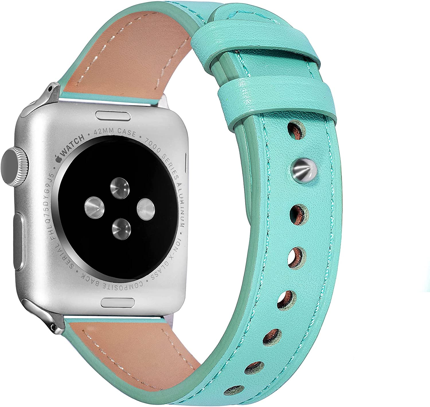SLIFTER Leather Bands - Classical Snap Button Design & Soft Genuine Leather version OR Additional Bracelet Version, Compatible with Apple watch Series SE/6/5/4/3/2/1 38mm 40mm 42mm 44mm Men Women