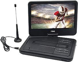 NAXA Electronics NPDT-1000 10-inch TFT LCD Swivel Screen Portable DVD Player with TV, USB/SD/MMC Inputs