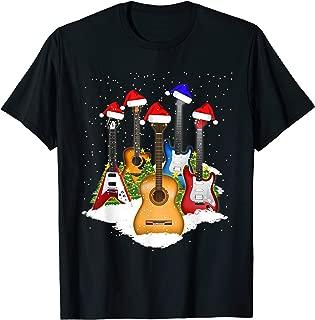 christmas guitar t-shirt