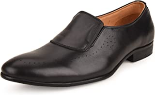 Escaro Everyday Wear Men's Genuine Leather Formal Slip on Shoes