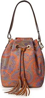 Eric Javits Luxury Fashion Designer Women's Handbag - Paisley Drawstring Bag - Ankara
