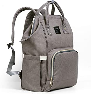 Ticent Baby Diaper Bag, Multi-Function Waterproof Travel Backpack Nappy Back Pack Bags for Baby Care - Large Capacity, Stylish and Durable, Dark Gray