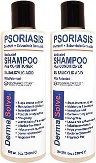 Scalp Psoriasis, Seborrheic Dermatitis & Dandruff Shampoo Plus Conditioner by DermaSolve (2-Pack) | Naturally Heals Itchy ...