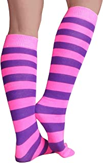 Chrissy's Socks Women's Striped Knee High Socks