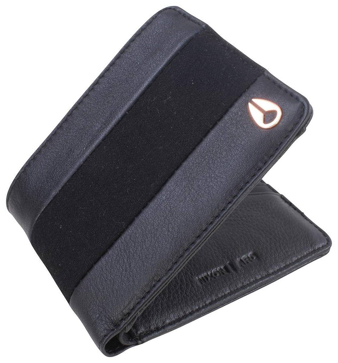 ペア水銀の研究所ブラック円弧二つ折り財布by Nixon